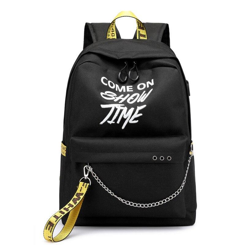 USB Hip Hop señoras mochila de moda blanco mujeres bolsas de alta calidad de gran capacidad bolso de estudiante Casual mochilas de viaje Shellnail bolsa impermeable para Laptop mochila de viaje de Multi función Anti-robo bolsa para hombres PC mochila de carga USB para Macbook IPAD