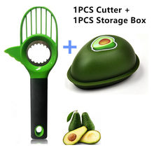 Avocado Slicer Cutter Peeler & Storage Box Portable Creative Cover Fruit Kitchen Tools Gadget and Inteligentes