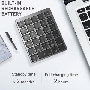 Image 3 - Bluetooth Numeric Keyboard Protable Keypad with USB Hub Splitter Aluminium Alloy Cover For Android phone Ipad Macbook Windows