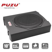 Universal Cast Aluminum Fuselage Slim 10 Inch 600W Slim Under Seat Car Active Subwoofer Bass Amplifier Speaker