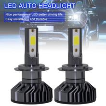 2pcs H7 EV8 60W 8000LM 6500K DOB LED Auto Car Headlight Kit Automobile Fog Lamp Hi or Lo Light Bulb Mini Type for Cars