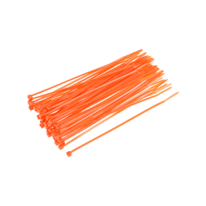 uxcell 80pcs Cable Zip Ties 6 Inch x 0.1 Inch Self-Locking Nylon Tie Wraps Orange