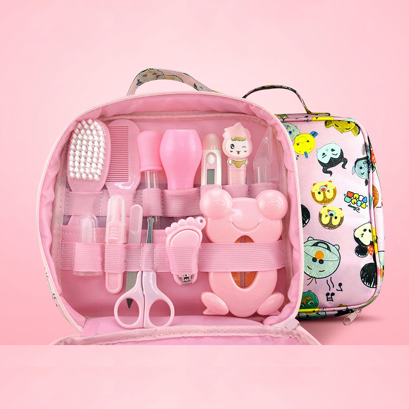 Image 5 - 13Pcs Baby Health Care Set Kids Grooming Kit Safety Manicure Nail  Clippers Comb Emery Hairbrush Thermometer Baby Care ToolGrooming