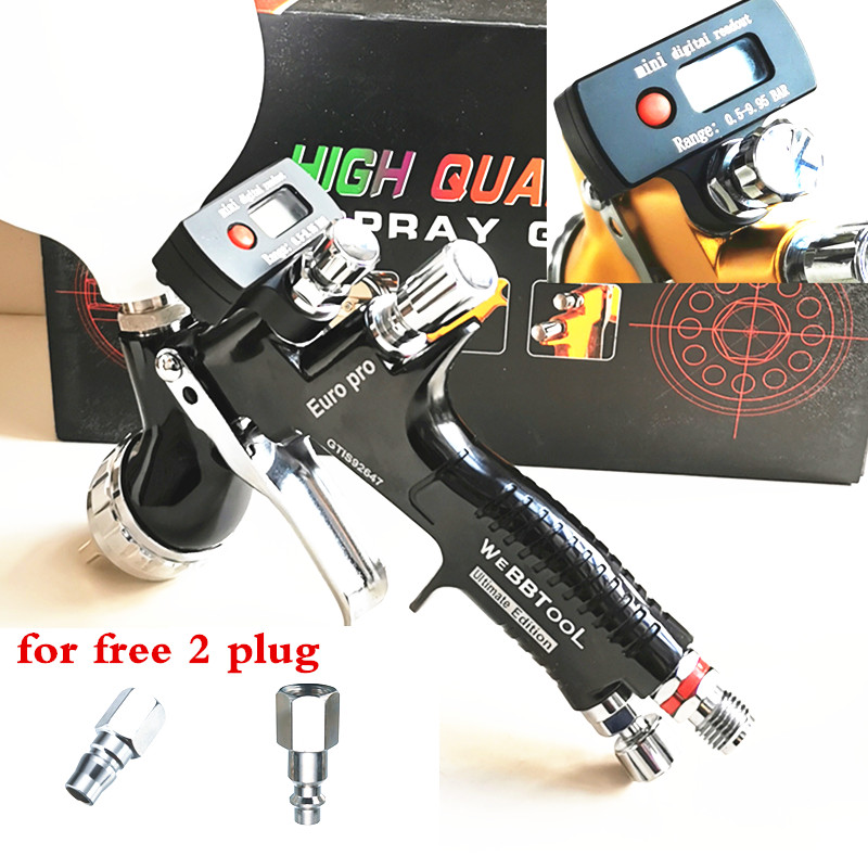 Digital Display EURO PRO Spray Gun  Car Sprayer Water-based Paint Oil Paint Spray Gun Corrosion Resistance Gti TE20 T110