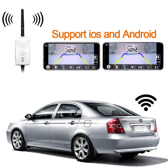 New wifi transmitter signal repeater for wireless car rear view camera for iphone ios &amp android
