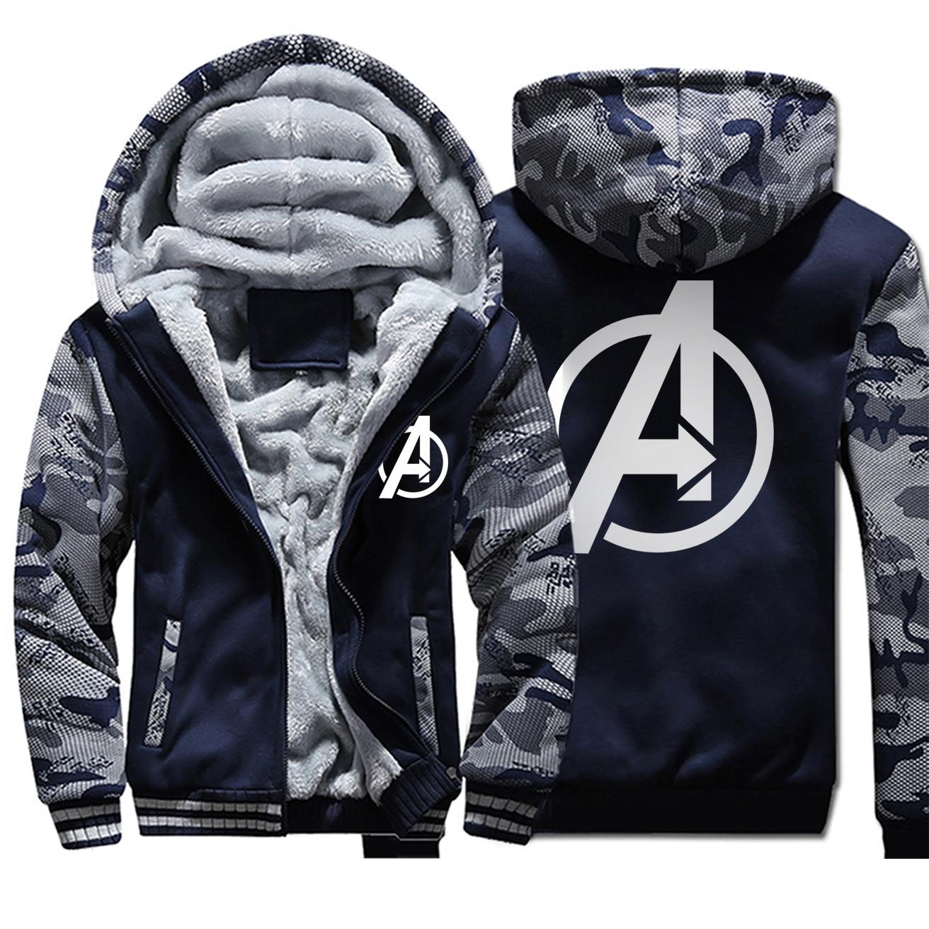 The Avengers Mens Hoodies Coats 2020 Man Brand Fleece Warm Thick Jackets Male Hip Hop Cool Fashion Loose Sportswear Hooded Coats