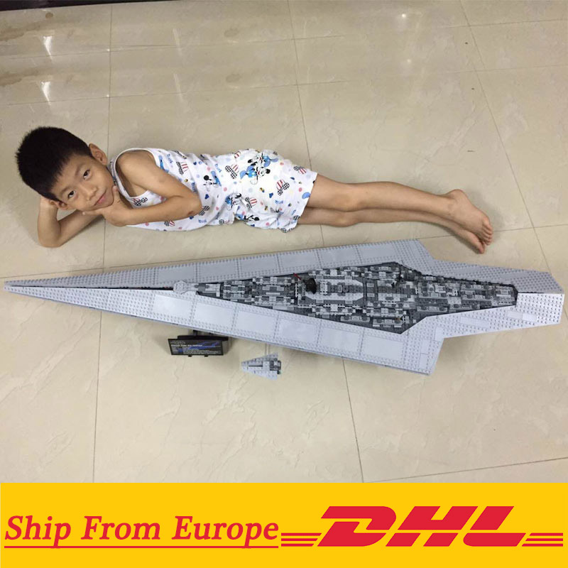 DHL 05027 05028 Start Wars Super Star Destroyer Imperial Star Ship Building Block Brick Compatible 10030 10221 1