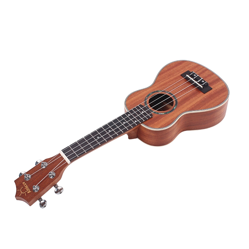 21 Inches Ukelele Ukulele Hawaiian Guitar Sapele Aquila Rosewood Fretboard Bridge Soprano Stringed Instrument 4 String