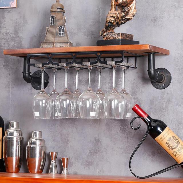 Glorystar держатель стакана вина Кубок вверх дном настенный