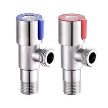 SUS304 треугольный клапан для холодной и горячей воды из нержавеющей стали, трехходовой клапан G1/2, угловой клапан для ванной комнаты