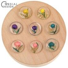 Cordial tasarım 50 adet 20*20MM DIY aksesuarları/kolye/doğal çiçek reçine boncuk/el yapılan/takılar/takı bulgular ve bileşenleri