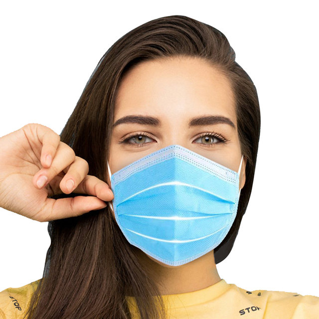 100/50/10pcs Disposable Face Mouth Mask Anti-dust Bacteria Proof Breathable Kids Adult Ear loop Filter Masks Respirator