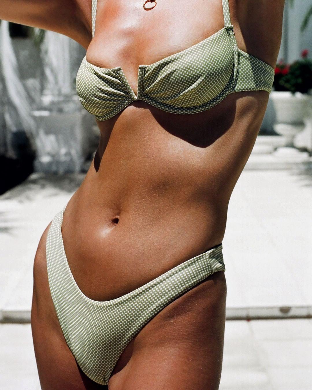Hirigin 2020 Printed Bikini Women Push Up Padded Cute Thong Bikini Set Swimwear Women Bathing Suit Summer Beach Simming Biquini