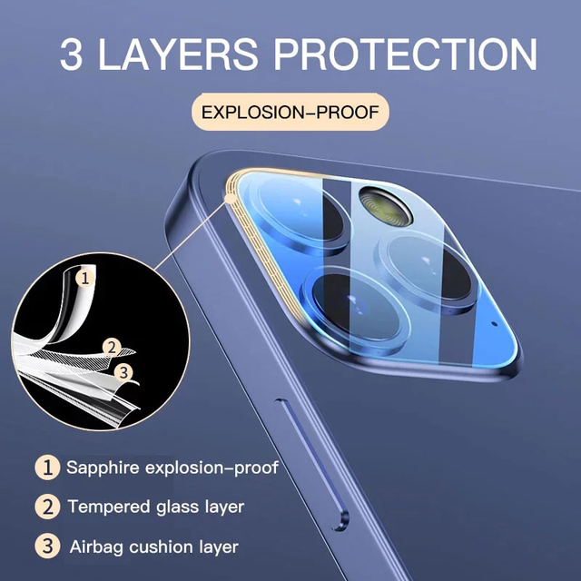 3PCS Camera Len Glass for iPhone 11 X XR 6 6S Plus SE Screen Protector for iPhone 12 Pro 7 8 XS Max 11 Pro Mini Protective Glass 3