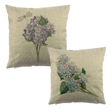Beautiful Floral pattern print home decorative throw pillow case decorate sofa cushion cover 45x45cm