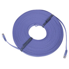New 98FT 30M CAT6 CAT 6 Flat UTP Ethernet Network Cable RJ45 Patch LAN Cord Blue цена 2017