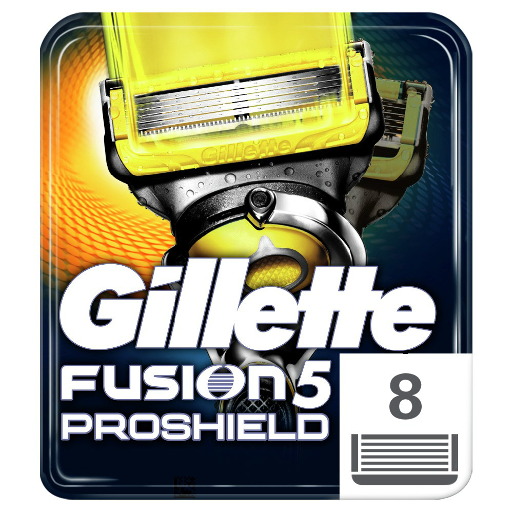Removable Razor Blades For Men Gillette Fusion ProShield Blade For Shaving 8 Replaceable Cassettes Shaving Fusion Cartridge