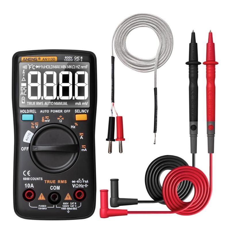 ANENG AN113D дисплей подсветки мультиметр AC/DC Напряжение Тестер Вольтметр Ручной ЖК дисплей Multimetro напряжение тока мультиметр|Мультиметры|   | АлиЭкспресс
