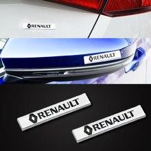2 шт новый модный Серебряный 3d Автомобильный Алюминиевый металлический