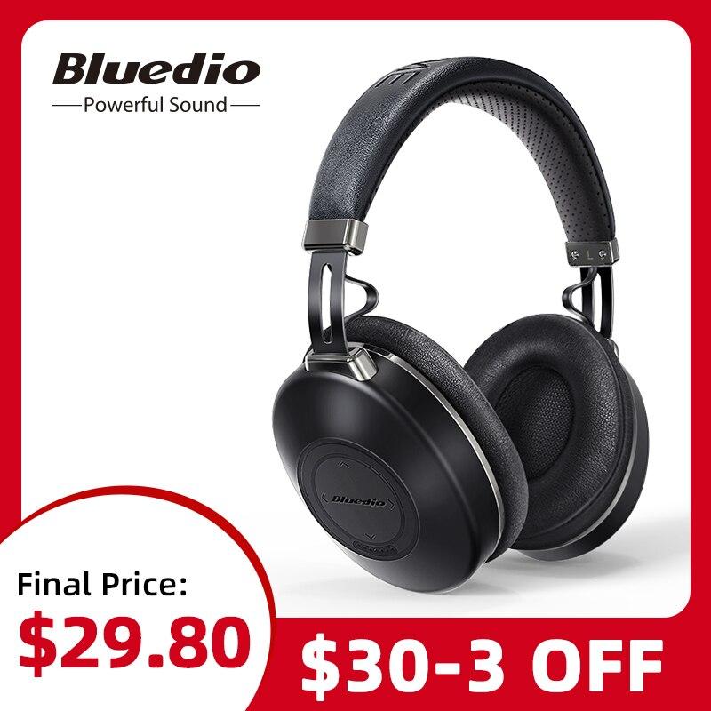 Bluedio H2, Bluetooth наушники, ANC, беспроводная гарнитура, HIFI Звук, подсчет шагов, слот для sd-карт, облачная функция, умное приложение