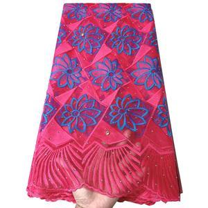 Image 4 - แอฟริกันภาษาฝรั่งเศสคำลูกไม้ผ้า Tulle คุณภาพสูงไนจีเรีย Laces ผ้า ROYAL BLUE ลูกไม้ปักผ้าตาข่ายสำหรับชุดปาร์ตี้