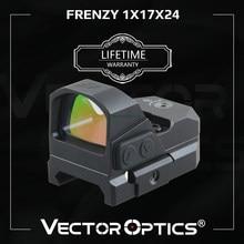 Vector Optics-mira de punto rojo Frenzy 1x17x24, pistola de mano IPX6 a prueba de agua, ajuste de 21mm, Picatinny GLOCK 17 19 9mm AR15 M4 AK