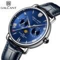 Синие кварцевые часы мужские водонепроницаемые часы для мужчин