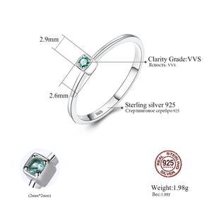 Image 5 - อัญมณี & Real 925 เงินสเตอร์ลิงแหวน Gree สีแดง Topaz แหวนพลอยหมั้นแหวนเงิน 925 anillos Mujer