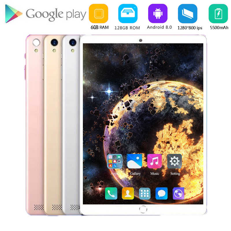 6g + 128GB Android 8.0 Tablet 10.1 inç 4G LTE Tablet telefon PC 8 çekirdekli RAM 6GB tabletler 10 çocuk tabletler bluetooth 3g Wifi GPS
