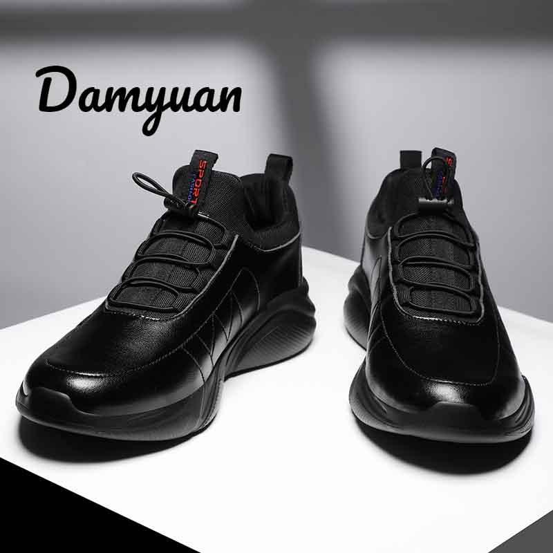 Damyuan Leather Men's Casual Shoes Tenis Masculino Adulto Light Men Shoes 46 Walking Shoes Plus Size 48 Flexible Autumn Casual