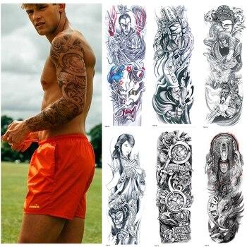 Temporäre Tattoo Aufkleber Vollen Arm Große Größe Gefälschte Tattoo für Mann Frau 1 Blätter