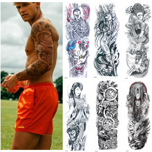 Temporary Tattoo Sticker Full Arm Large Size Fake Tattoo for Man Woman 1 Sheets(China)