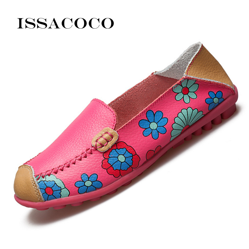New Ladies Shoes Woman Nurse Rothy Slip On Shoes Genuine Leather Flats Shoes Women's Loafers Moccasins Zapatos Planos Size 36-44