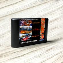 Mega Spiele 3(super donner klinge super monaco GP alien storm) 3 in 1  EUR Label Flashkit MD Karte forSega Megadrive Spiel Konsole