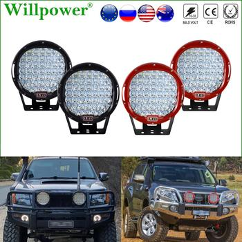 2pcs 4x4 Front Bumper 9 Round Spotlight LED Headlight For Jeep JK Wrangler Offroad 4WD Truck SUV Pickup Fog Light Driving Lamp paired ol jf02a 10 30v 30w 4 inch angel eyes fog lamps shock proof round foglight for jeep wrangler front bumper lights