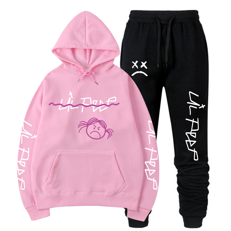 Lil Peep Hoodie Sweatshirt Men/Women Fashion Hoodies Sweatshirts+Sweatpants Suits 2019 Autumn Winter Warm Fleece Hooded Pullover