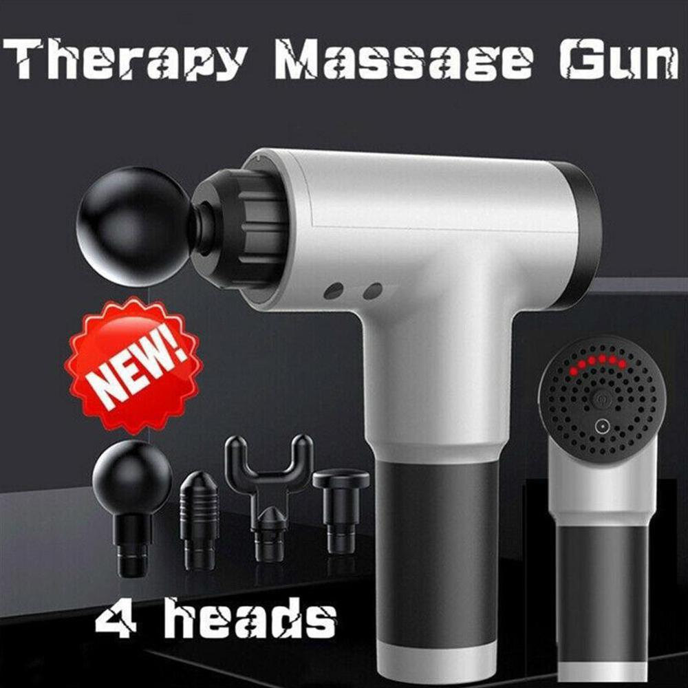 Профессиональный электрический пулемет для массажа мышц расслабляющий фитнес-шоковый пистолет глубокая Вибрация расслабляющее оборудова...