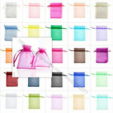 25/50 Pcs/lot White Drawstring Organza Bags&small Pouches Jewelry Package Bags Christmas Wedding Packaging Gift Bags 5z