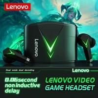 Lenovo-auriculares inalámbricos LP6 TWS, cascos con Bluetooth y micrófono de baja latencia para videojuegos, estéreo 3D de graves, auriculares para jugador de videojuegos