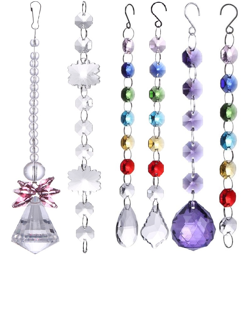 DIY Crystal Sun Catchers Chandelier Crystals Ball Prism Pendant Rainbow Maker Hanging Chakra Cascade Suncatcher