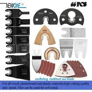 Nuevo paquete de 66 hojas de sierra de liberación rápida multiherramienta oscilante de Metal y madera aptas para Fein Black & Decker Bosch Craftsman Dewalt