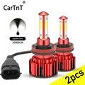 CarTnT 2 шт. супер яркий Автомобильный светодиодный головной светильник H7 светодиодный H8 H9 H11 9005 9006 HB3 HB4 200W 20000LM светодиодный лампы автомобильна...