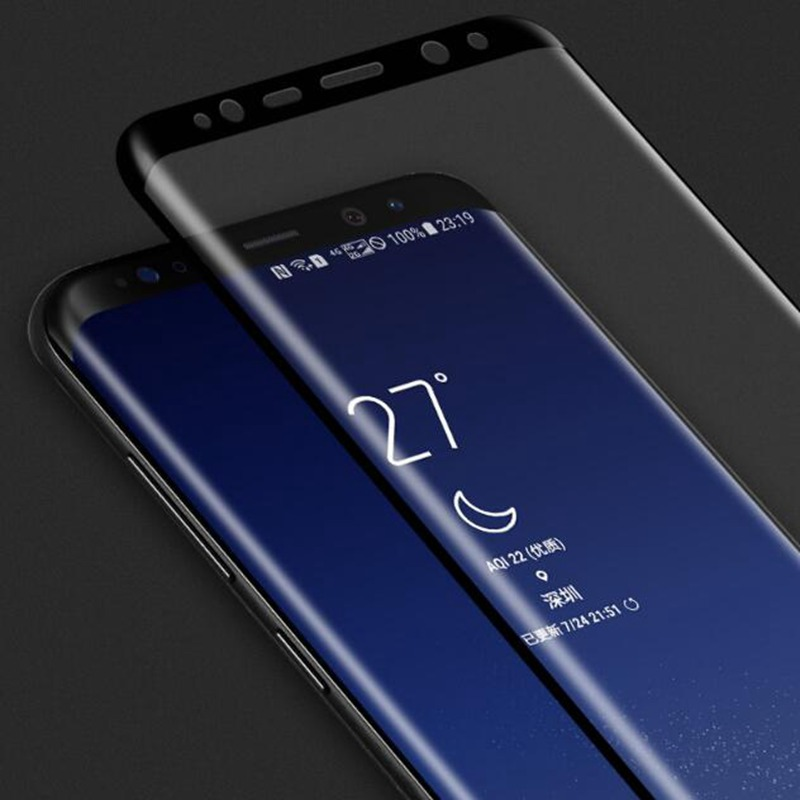 3D Curved Tempered <font><b>Glass</b></font> For <font><b>Samsung</b></font> <font><b>Galaxy</b></font> S8 PLUS S7 S6 edge Note 8 <font><b>A3</b></font> A5 A7 <font><b>2017</b></font> Full Cover Screen Protector Protective Film image