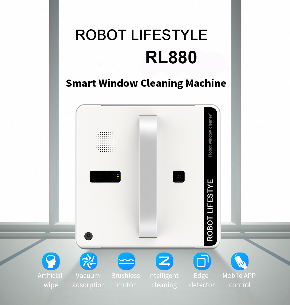 Intelligent Path Planning Robot Window Cleaner with Remote/Mobile App Control 4