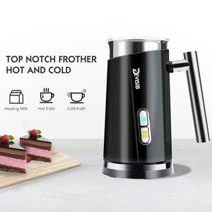 Image 3 - جهاز بخار كهربائي DEVISIB مزبد الحليب لصنع لاتيه كابتشينو شوكولاتة ساخنة جهاز تسخين أوتوماتيكي من الفولاذ المقاوم للصدأ للأجهزة المنزلية
