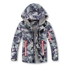 Непромокаемая и дышащая флисовая куртка с капюшоном для мальчиков; пальто на молнии; зимняя детская ветровка; осенняя одежда