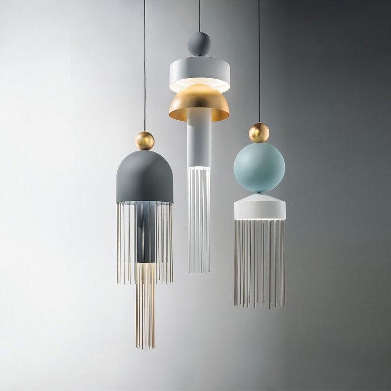 Постмодерн кисточкой светодиодный подвесной светильник скандинавские светильники гостиной подвесной светильник спальня Ресторан Бар подвесное освещение|Подвесные светильники|   | АлиЭкспресс