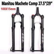 Bicycle Suspension Fork Manitou Machete Comp 100*15mm Thru 27.5er 29inche air size Mountain MTB Bike Fork Front MARVEL COMP PRO 2016 new mtb bike fork 26 zoom fork bicycle front fork mountain bike suspension fork bicycle parts
