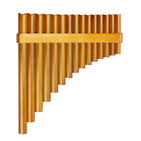 15 Pipes Natural Bamboo Chinese Folk Musical Instrument Pan Flute Wind Instrument Panpipes G Key Flauta Handmade Panflute