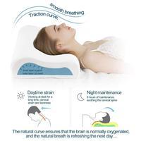 Descanso do contorno da espuma da memória da natureza  descanso cervical da cama do apoio do pescoço para dormir  sono lateral-alivie a dor do pescoço com